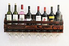 QX Wine shelf IAIZI Holz Weinregal, Weinglas und