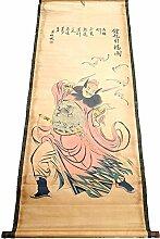 QXH Retro hängenden Bilder Chinesische Tuschemalerei Home Dekoration, 15 number, 155 * 74 cm