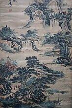 QXH Vintage hängenden Bilder Chinesische Malerei Tuschemalerei Home Dekoration, 155*74 cm