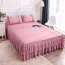 QXJR Wrap-Around Bed Bett Röcke,Tagesdecke Spitze