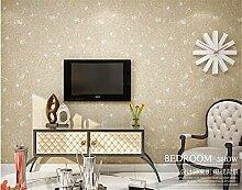 QXLML Einfarbige Vliestapete einfache moderne alte Retro-Tapete Wohnzimmer Schlafzimmer voller Tapete 10 * 0,53 (M) ( Color : E )