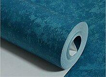 QXLML Tapete Mittelmeer Retro Reine Farbe Blau Blau Vlies Tapete Schlafzimmer Personal Shop Renovierung Shop Tapete 10 * 0,53 (M) ( Color : Blau )