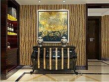 QXLML Tapete Modernes einfaches einfaches Retro- nostalgisches hölzernes Muster-nichtgewebte Tapete Wohnzimmer-Fernsehhintergrund-Tapete 10 * 0.53 (M) ( Color : Braun )