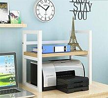QXWL Bücherregal Einfache Desktop Regale Desktop Schreibwaren Bücherregale Lagerregale Bürobedarf Regale Drucker Lagerregale Kreative Desktop Finishing Racks Holz Regale ( Color : A )