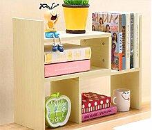 QXWL Bücherregal Einstellbare Holz Desktop Storage Manager Einfache Bücherregal Display Regale Bürobedarf Regale Kinder Desktop Storage Regale ( Color : E )