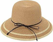 QY Hüte Sommersaison Sonnenschutz Khaki Visier Hut Zusammenklappbar Mode