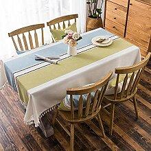 QY Tischdecke Baumwolle Und Leinen Tischdecke