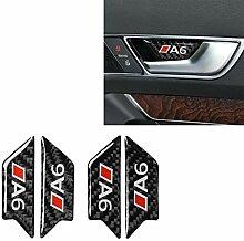QYGGGcar Aufkleber für Autotür aus Karbonfaser,