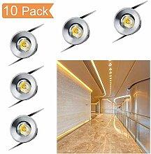 QYHOME Mini LED Einbaustrahler 10er Set,1W