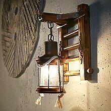 QYHOME Vintage Wandlampe,Retro Nostalgie