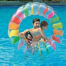 QYHSS Pool Wasser-Laufrad, ufblasbares