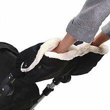 Sanwood Winter Warmer Baby Kinderwagen Hand muff Fingerlose Handschuhe Kutsche Kinderwagen Wasserdicht
