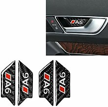 QYYcar Aufkleber für Autotür aus Karbonfaser,