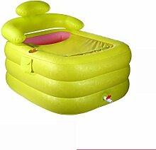 qz Inflatable Bathtub Aufblasbare Wanne Falten Bad Fässer Kunststoff Bad Kinder Bad Fässer ( Farbe : S-Green , größe : Foot pedal )
