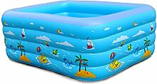 qz Inflatable Bathtub Baby Schwimmbad Home Aufblasbare Bad Spiel Pool ( Farbe : Grün , größe : 210cm )