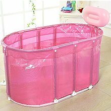 qz Inflatable Bathtub Edelstahl Stent Bad Wanne Bad ( Farbe : Pink )