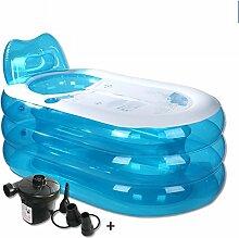 qz Inflatable Bathtub Faltende aufblasbare Wanne-Schlauch-Bad-dickes Wasser-Einsparung ( Farbe : Electric pump , größe : L )