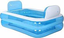 qz Inflatable Bathtub Faltende aufblasbare Wanne-Schlauch-Bad-dickes Wasser-Einsparung ( Farbe : Blau , größe : Electric pump )