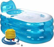 qz Inflatable Bathtub Faltende aufblasbare Wanne-Schlauch-Bad-dickes Wasser-Einsparung ( Farbe : Foot pedal , größe : M )