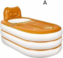 qz Inflatable Bathtub Home Aufblasbare Wanne Falten Plastik Bad Erwachsene Bademantel ( Farbe : A )