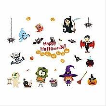 QZF Halloween Wandaufkleber Ghost Festival