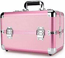 Qzny Kosmetikkoffer, Aufbewahrungsbox aus Metall