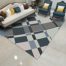 Qzny Teppich Luxus Anti-Rutsch-Teppich Platz