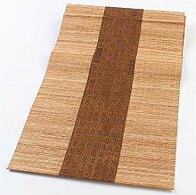 QZQZP Tischläufer Stoff Bambus Retro Bambusmatte