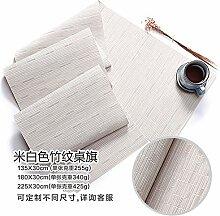 QZQZP Tischläufer Teslin PVC tischset Bambus