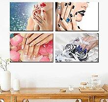 QZROOM Wandkunst Leinwand Malerei Druck Make-up