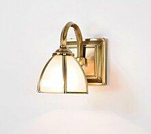 QZz Badezimmer LED Klassische Kupfer Badezimmer-Spiegel-Front-Lampe Beleuchtung-J108 ( größe : 12.5cm )