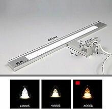 QZz Badezimmer LED-Spiegel-Schrank-Leuchten Aluminium-Acryl ( farbe : Gelb-10w60cm )