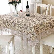 QZZ Tischdecken Floral Pflanzen Muster Lace Edge Esstisch Tuch Tischdecke Stoff Couchtisch Tischdecke Tischdecke ( größe : 83*83cm )
