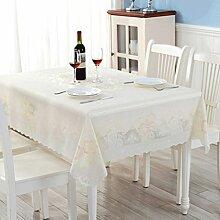 QZZ Tischdecken Plastik Tischdecke Pvc wasserdicht Anti-Öl Tischdecke Couchtisch Matte ( Farbe : Rechteckig )
