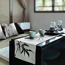 QZZ Tischläufer Chinesische Malerei Tinte Bambus