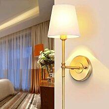 QZz Wandleuchten US-amerikanischer Country-Wandlampe Nachttischlampe warmen minimalistischen Schlafzimmer Lampe Korridor Wandspiegel vor dem TV-aisle All-Kupfer-Lampen