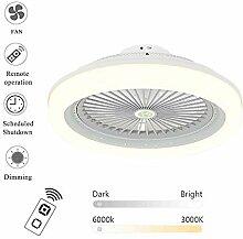 QZZZ Deckenlampe mit Ventilator Inkl, Moderne