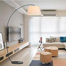 QZZZ Stehlampe Wohnzimmer, Modern Bogenlampe mit