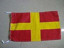 R–International Maritime Signal Code Flagge, 100% Baumwolle, 20,3x 33cm–Marine/Nautical/Boo