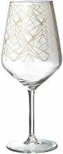 R&B Weinglas Golden 2er Set Weinkelch Glas Wein
