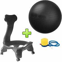 R & R Enterprises Fitness Ball Chair Anti-Burst,
