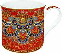 R2S 177jair Art Around the World Set Kaffeebecher mit Keramik mehrfarbig 14,5x 12x 9,5cm