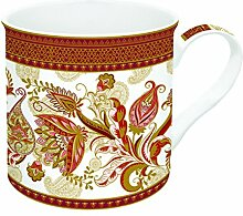 R2S 177shar Art Around the World Set Kaffeebecher mit Keramik mehrfarbig 14,5x 12x 9,5cm