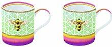 R2S 283hone Garden & Tropical Friends Set 2Becher 30cl Porzellan bunt 30x 15x 15cm 2Einheit (S)