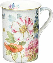 R2S 329 Cott Cottage Flowers Set 1 Becher 25 cl Bone China Mehrfarbig 11,8 x 10.4 x 10.2 cm