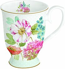 R2S 375 Cott Cottage Flowers Set 1 Becher 30 cl Bone China Mehrfarbig 12.2 x 7,6 x 9.4 cm