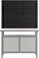 Rückwand-System für PROFI-Werkbank 2 Ansatzstangen + 2 Lochwände