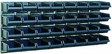 raaco Sichtboxen-Wandpaneele mit 32 Sichtboxen,