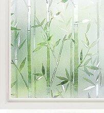 rabbitgoo 3D Statisch Haftende Fensterfolie Bambus