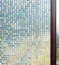 rabbitgoo Fensterfolie 3D Sichtschutzfolie Fenster
